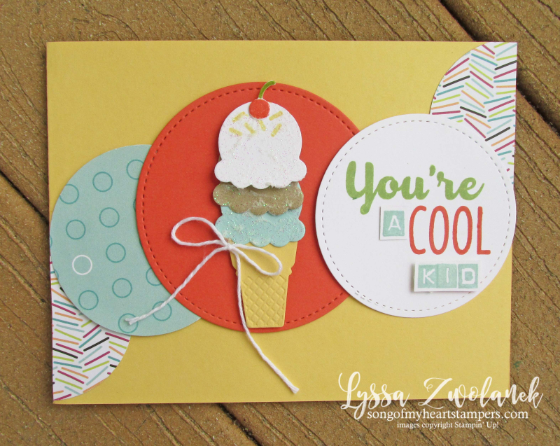 Cool Treats ice cream rubber stamps popsicles Sizzix Stampin Up summer cones class technique