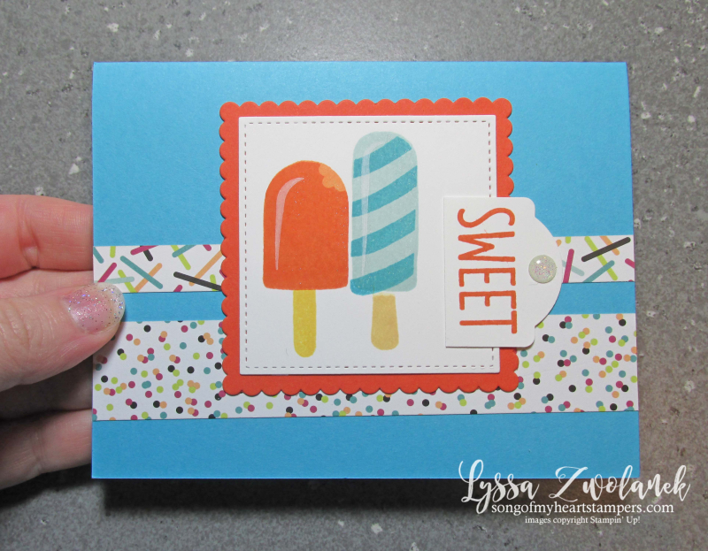 Cool Treats ice cream rubber stamps popsicles Sizzix Stampin Up color combos