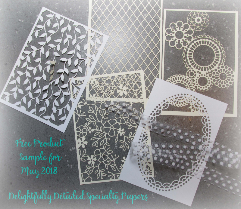 Free samples delightfully detailed laser cut lace papers stampin up Lyssa