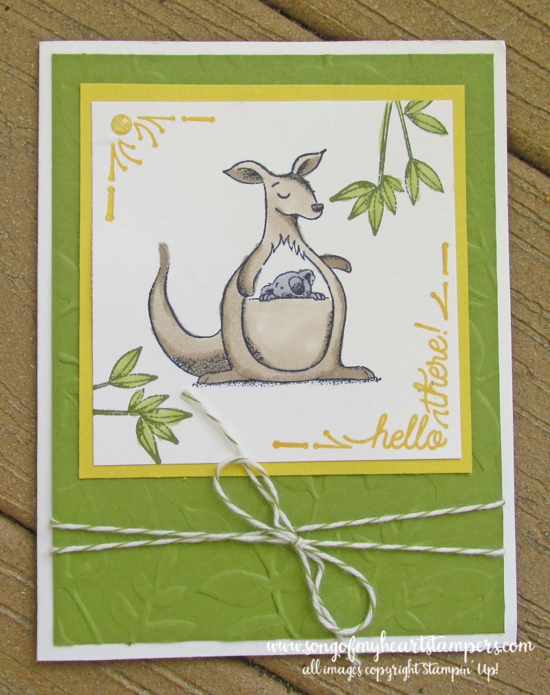 Animal Outing giraffe kangaroo rhino koala stamps stampin up Lyssa