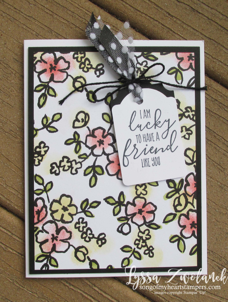 Petal Palette sponge daubers black and white coloring papers adult stampin up tag punch  DIY cardmaking