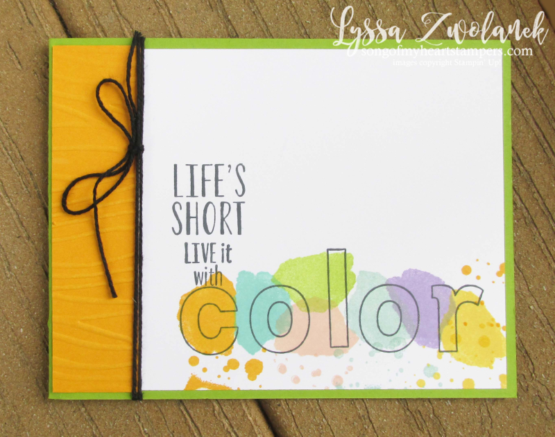Live it with Color Lined alphabet stamps lemon zest seaside folder Stampin Up