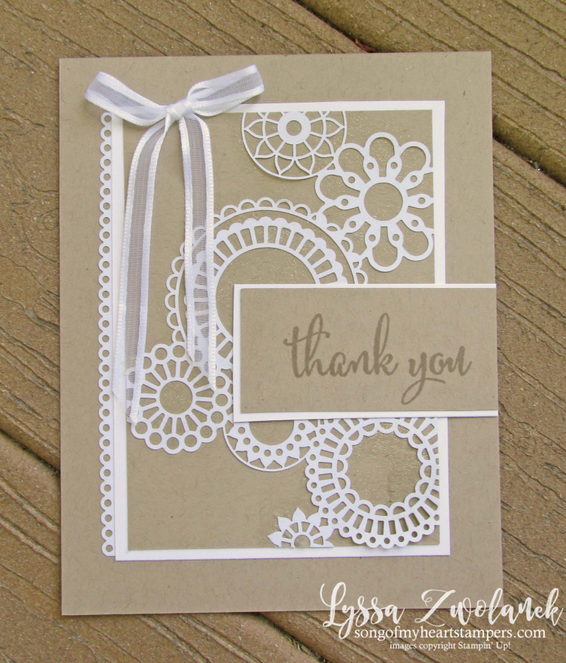 Delicate detailed Designs specialty lace paper Stampin Up laser cut DSP Lyssa 12x12