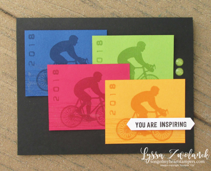 Enjoy Life bike cyclist race triathalon competition adventure tour congratulations card