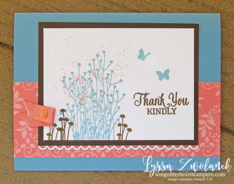 Enjoy life stampin up cardmaking rubber stamps shop Lyssa Delightfully detailed