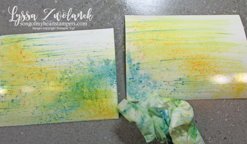 Dandelion Wishes tutorial brusho background technique Stampin Up Lyssa