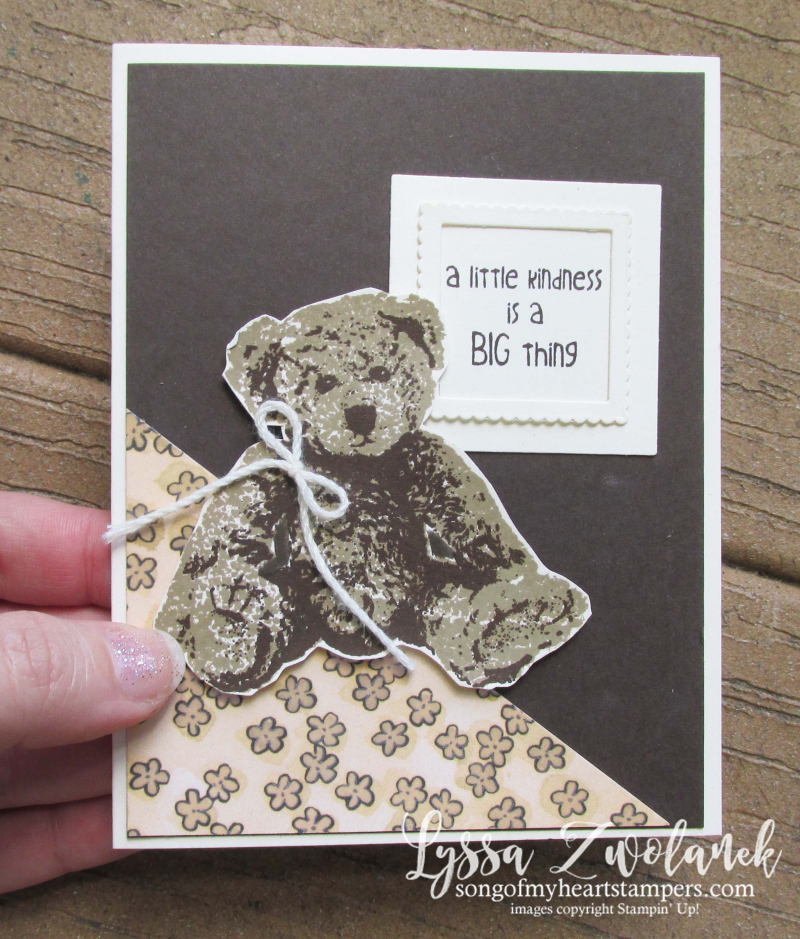 Big baby bear stamparatus stampin up positioning tool placement guide tutorial
