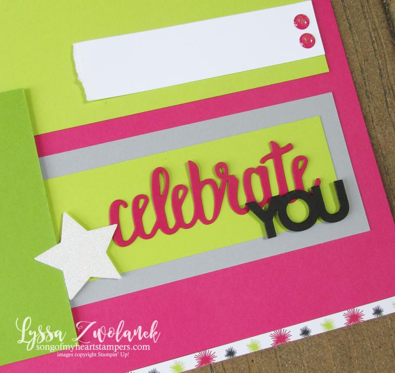 Broadway bound paper Stampn Up scrapbook layouts spread birthday 12x12 Lyssa
