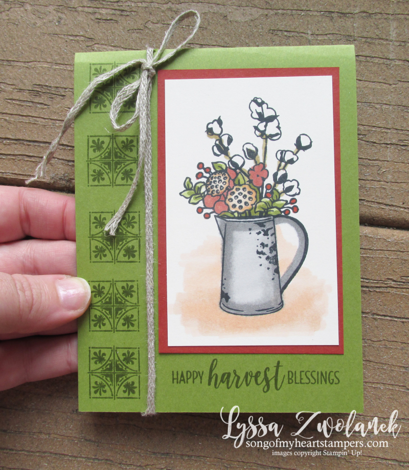 Harvest blessings stampin up country home cotton stamps rubber Lyssa autumn