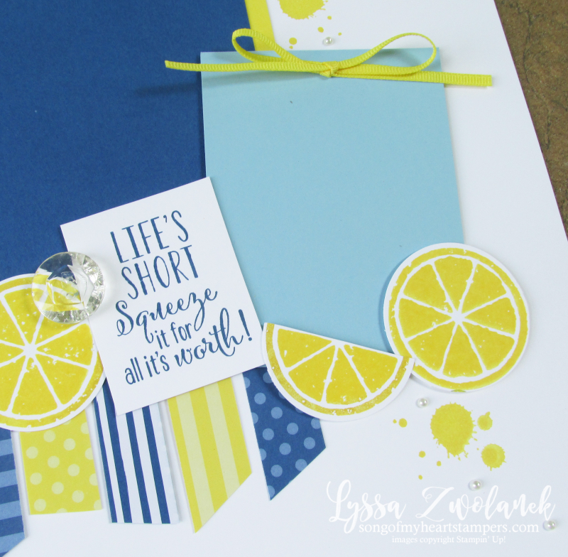 Life lemons paper scrap strip layout zest 12x12 scrapbooking layout Stampin Up