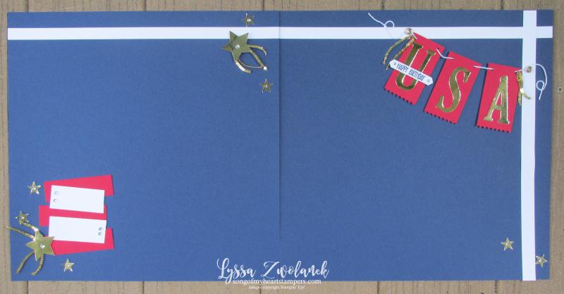 Fourth july america parade picnic patriotic honor flight scrapbook layout Stampin Up