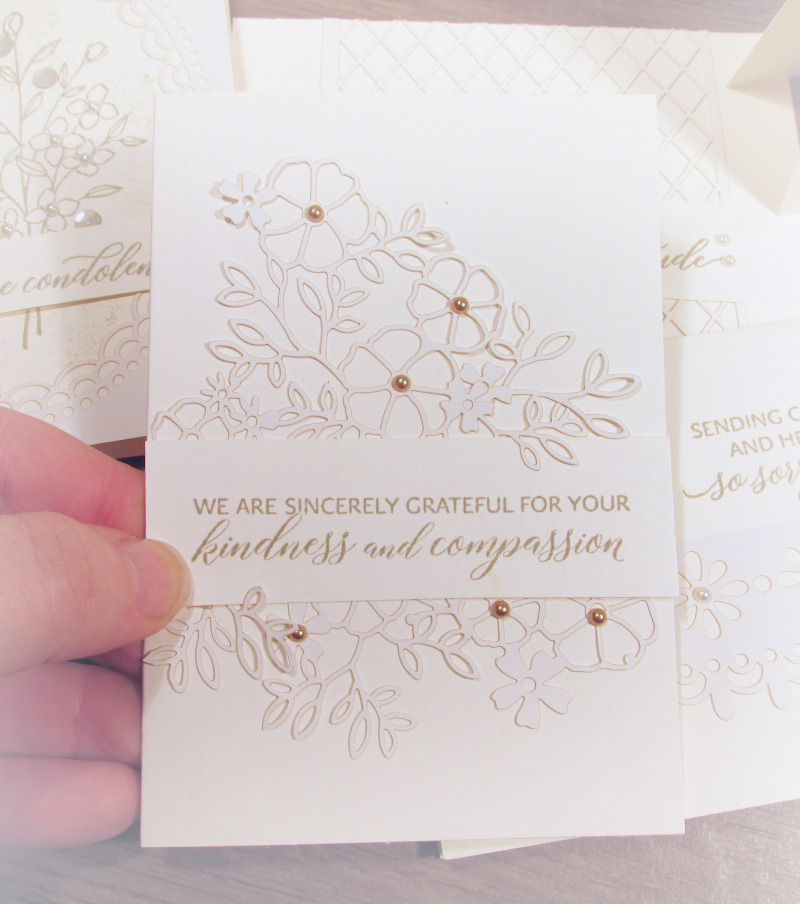 Delightfully detailed delicate lasercut lace sheets stampin up