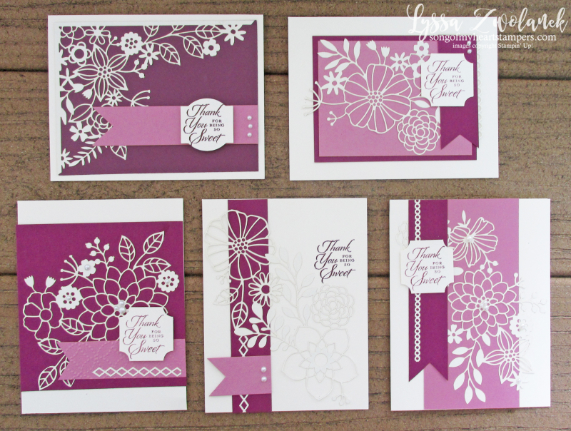 Detailed delightfully lace paper sheets 12x12 Stampin Up DIY punch box cardmaking tutorials