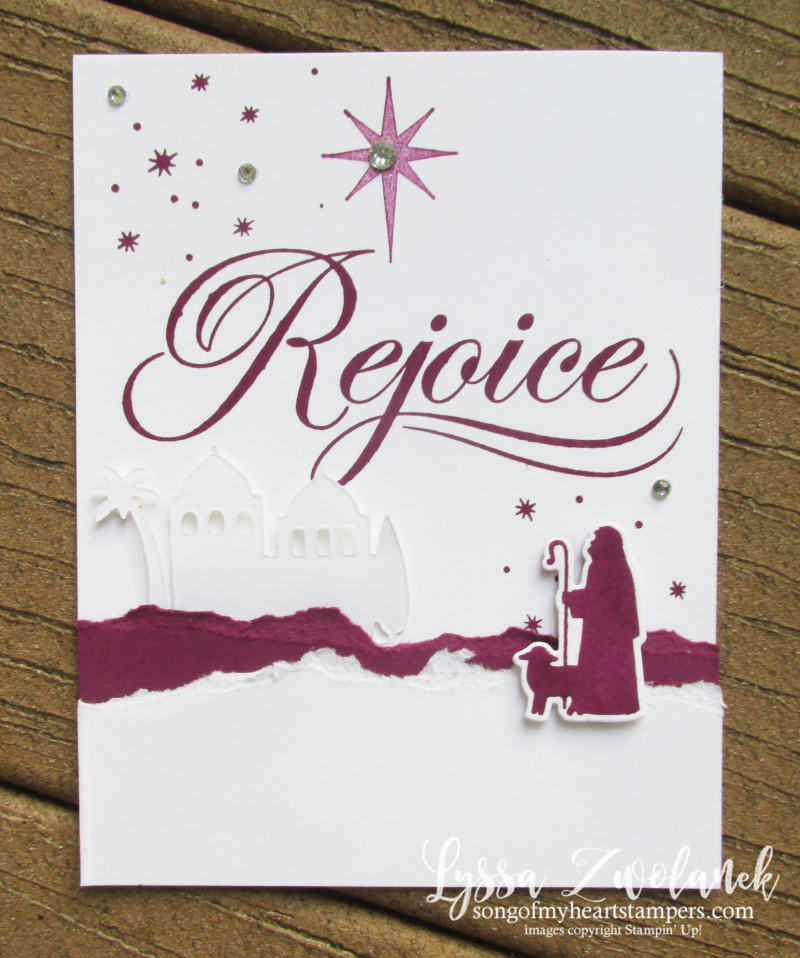 His Light christmas scripture relgious stamps holiday cardmaking shepherds bethlehem night stars