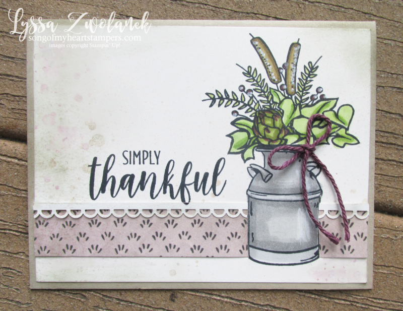 Country home cotton bolls thankful blessings farmhouse Stampin Up rubber stamps