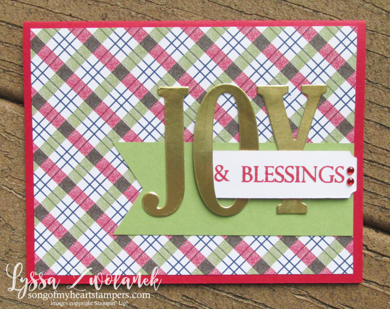 Under the Mistletoe Stampin Up holiday christmas large letters framelits sizzix dies cards