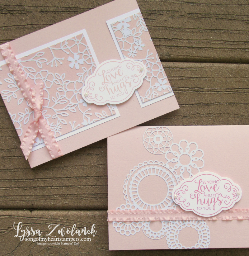 Delightfully Detailed lace lasercut papers stampin up Label me pretty rubber stamps cardmaking
