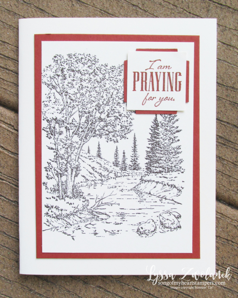 Peaceful Place praying for you card cardmaking techniques stampin up men masculine ideas coloring