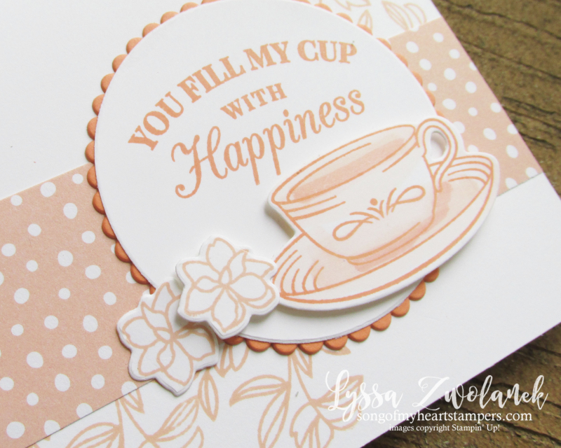 Teacup tea party Stampin Up DIY cardmaking tutorials Lyssa lace