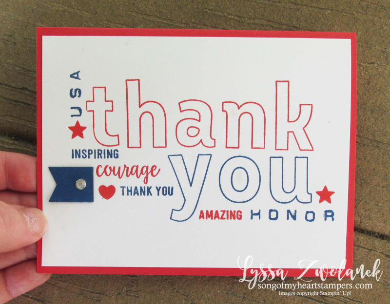 Lined Alphabet stamps stampin up Honor Flight cards mailcall charity project Lyssa patriotic military