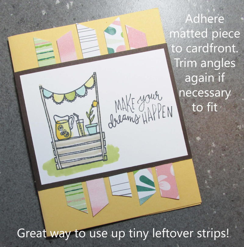 Lemonade Stand Sunny Days stampin Up strip background tutorial Lyssa lemons watermelon