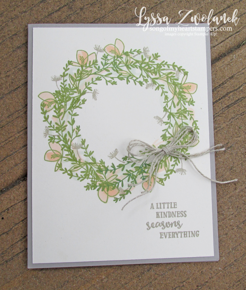 Wreath building tutorial no template necessary rosemary seasoned kindness stampin up
