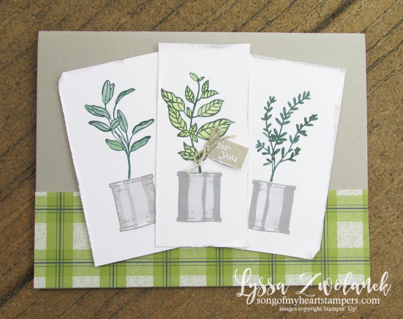 Seasoned kindness triple panel card cheat sheets plai Stampin Up hostess