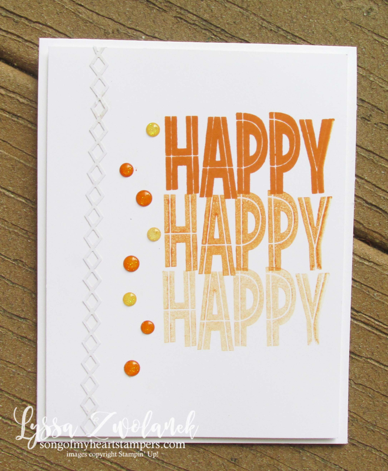 Stamparatus One For All Stampin Up happy birthday hinge technique
