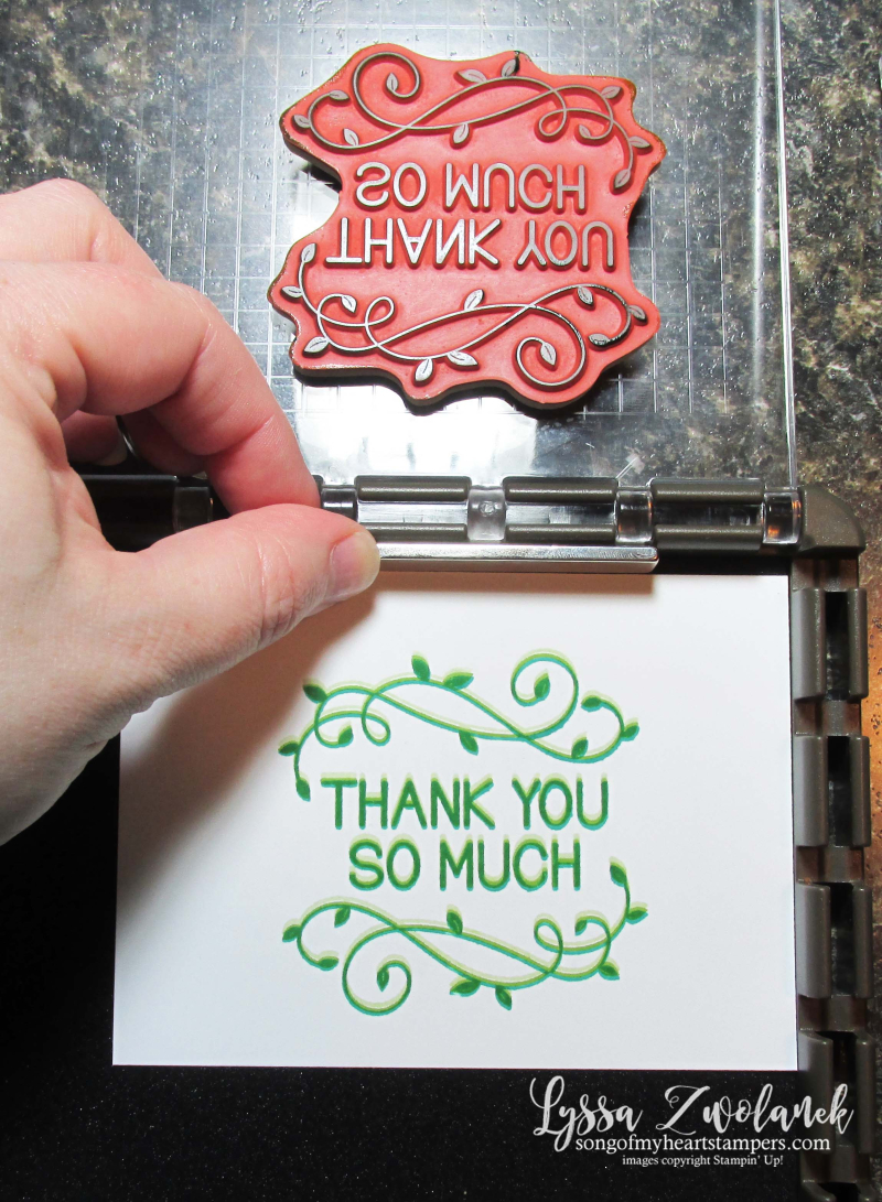 Stamparatus tips tricks Stampin Up shadow Lyssa
