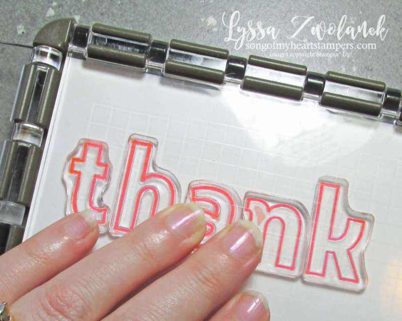 Stamparatus tricks tips stampin up technique storage line up stamps Lyssa