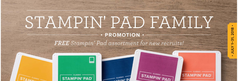 Ink pad family free Stampin Up signup