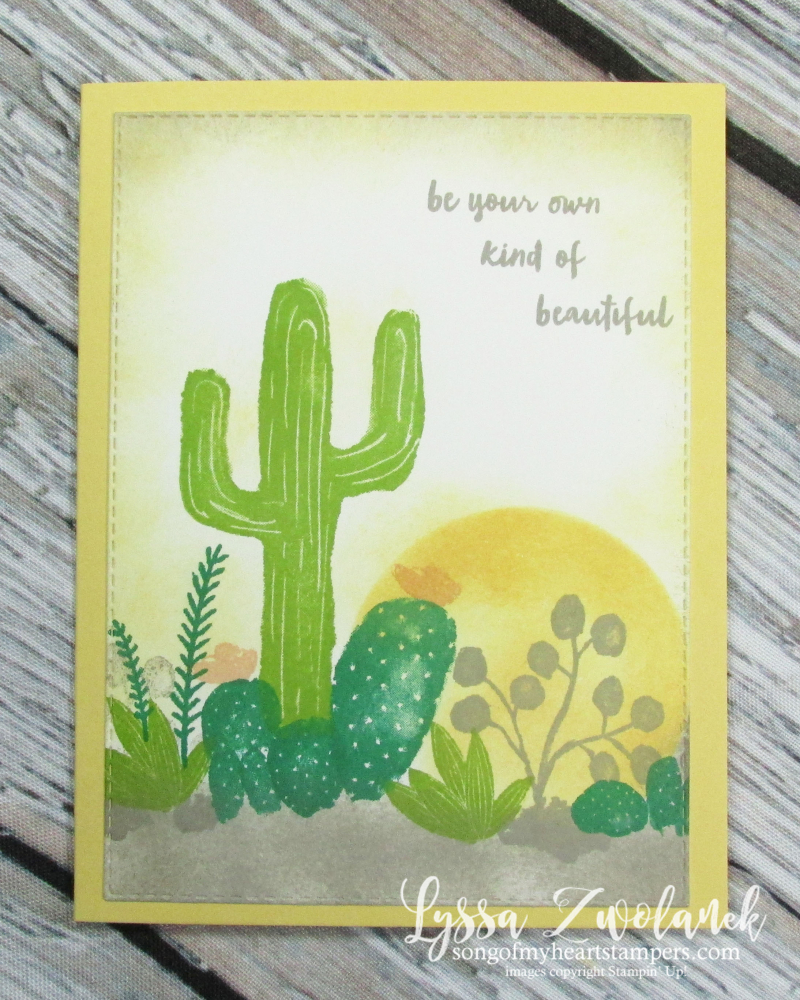 Cactus succulent rock garden stamps Stampin Up pear flowering desert agave stamps
