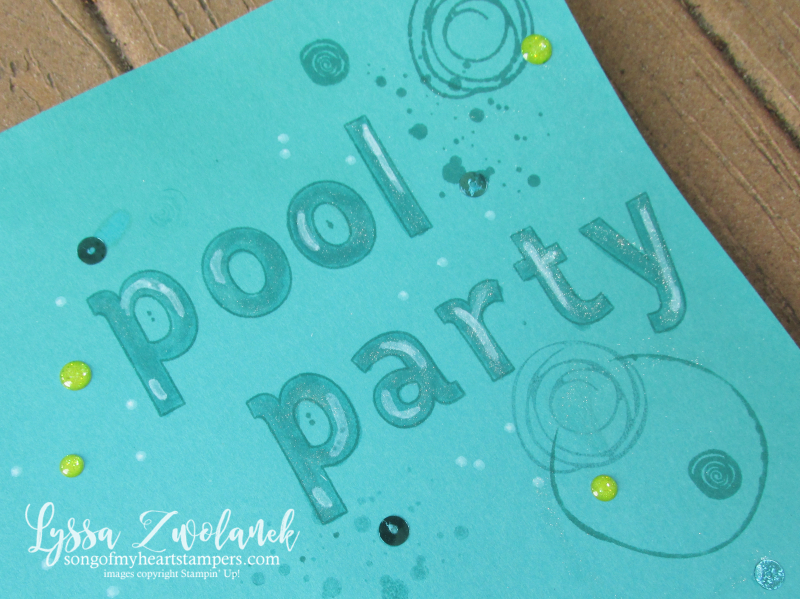 Seaweed under the sea scrapbook layout pool ocean mermaid swirly bird Stampin Up 12x12 layout