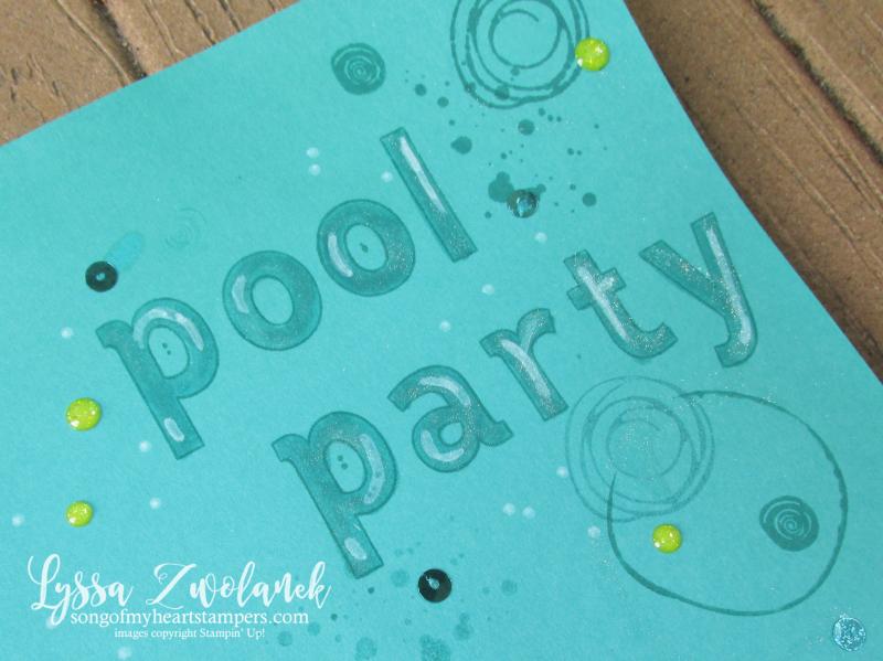 Seaweed under the sea scrapbook layout pool ocean mermaid swirly bird Stampin Up 12x12 layout