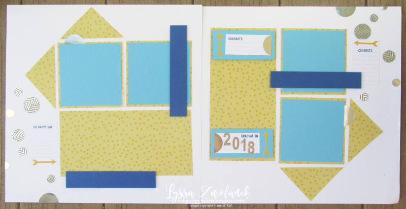 One sheet wonder scrapbooking cheat sheet layouts sketch Lyssa 12x12