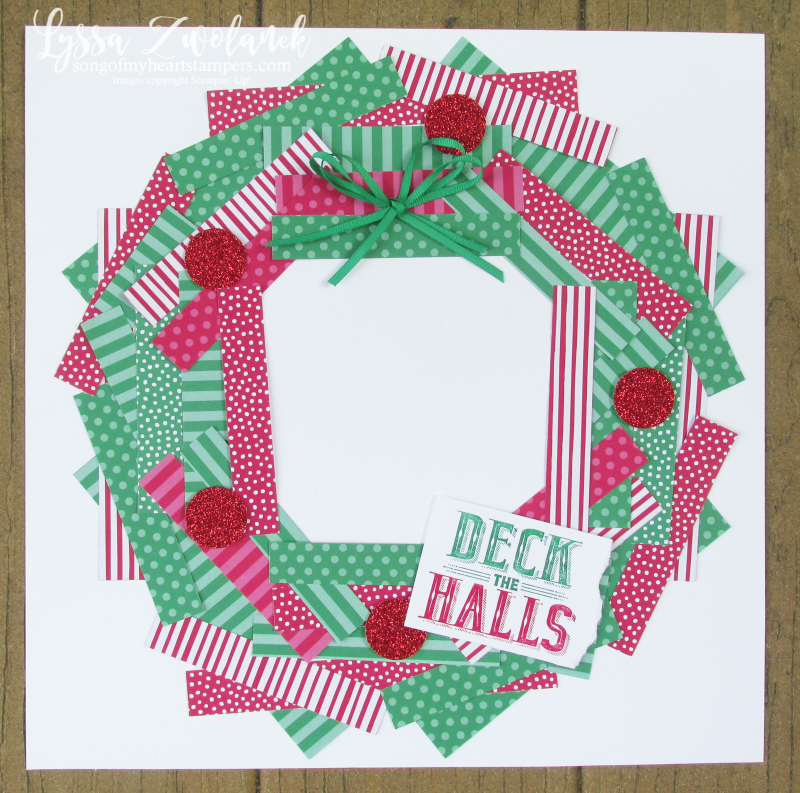 Paper scraps layout 12x12 scrapbooking christmas tutorial layouts Lyssa Stampin up