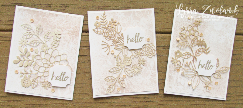 Delightfully detail lace lasercut papers 12x12 sheets Stampin Up wedding invitations