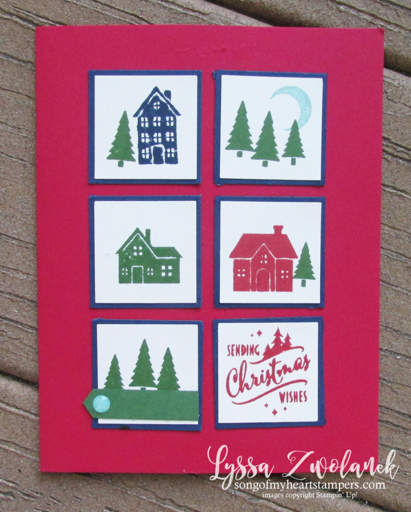 Holiday punch box christmas cards stampin up DIY cardmaking Lyssa traditions