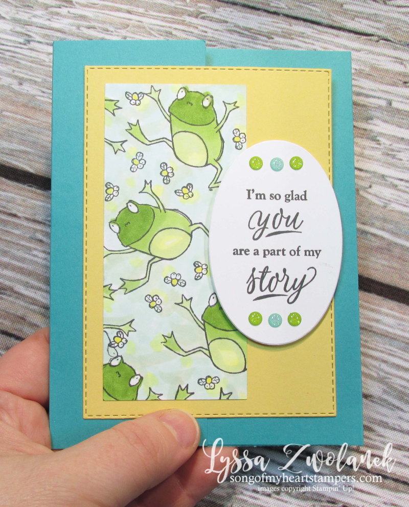 Hoppy for you hoppity stampin up frog gift birthday card DIY cardmaking