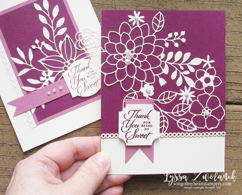 Detailed delightfully lace paper sheets 12x12 Stampin Up cardmaking DIY tutorials
