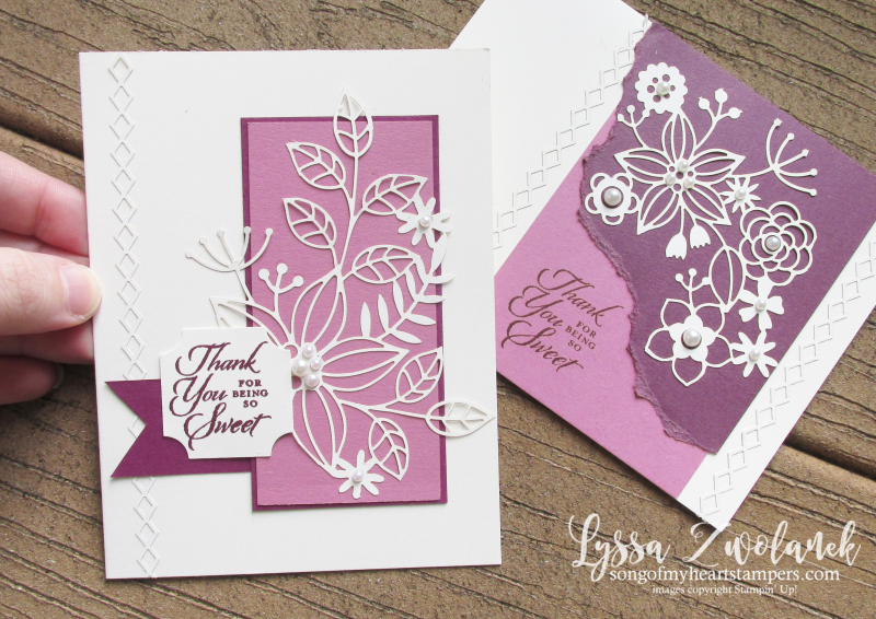 Detailed delightfully lace paper sheets 12x12 Stampin Up punch box DIY cardmaking tutorials
