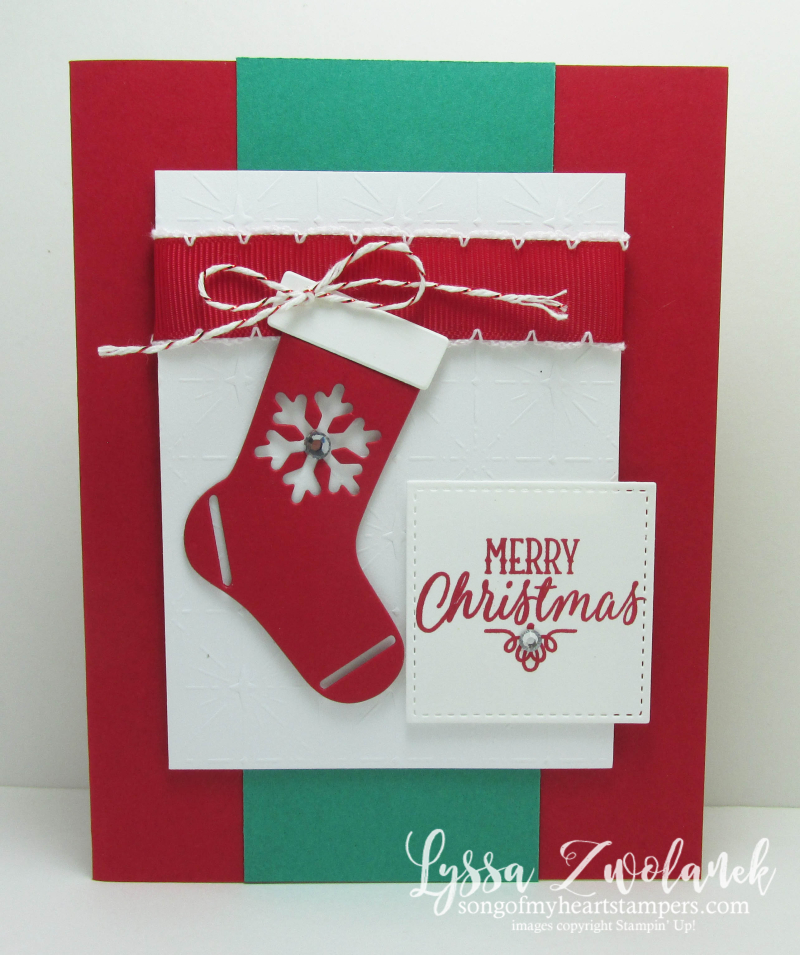 Christmas Stockings Sizzix Framelits Thinlets Holiday Card Stampin Up Big Shot