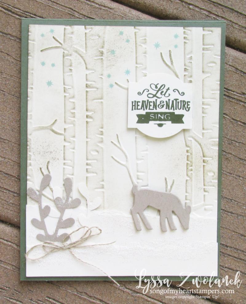 Dashing deer christmas holiday DIY cardmaking Stampin' Up rubber stamps sizzix