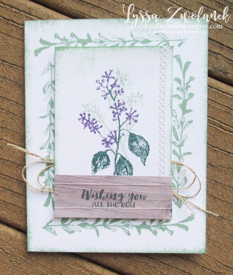First frost frosted floral shimmer paint herbs rubber stamping stampin up sizzix