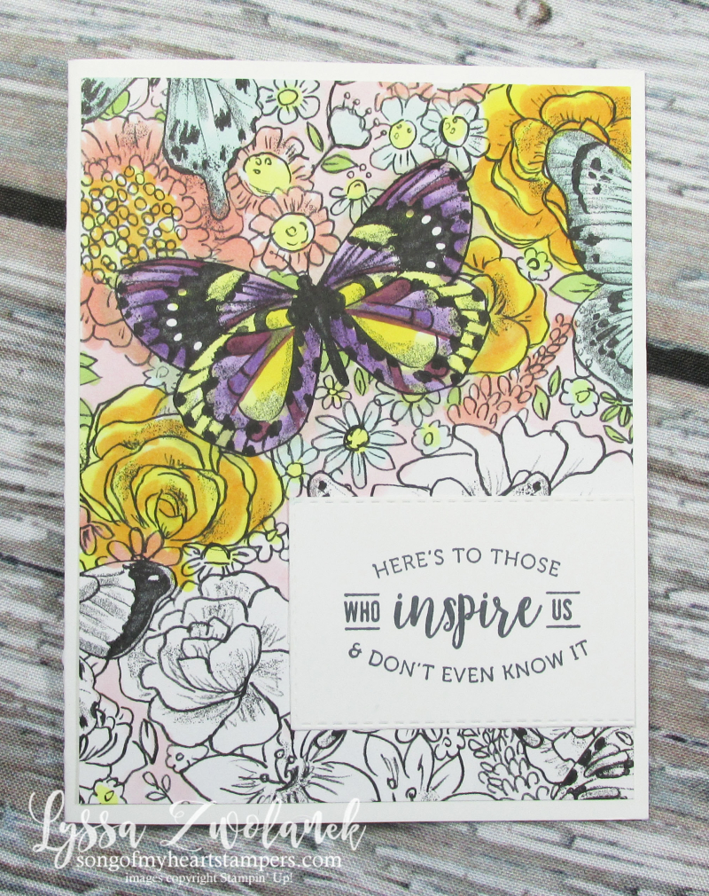 Butterfly DSP gala paper 12x12 scrapbook SAB free Stampin up butterflies adult coloring DIY Lyssa
