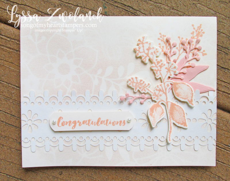 First Frost frosted floral delightfully detailed lace paper sizzix stampin up wedding cardmaking DIY