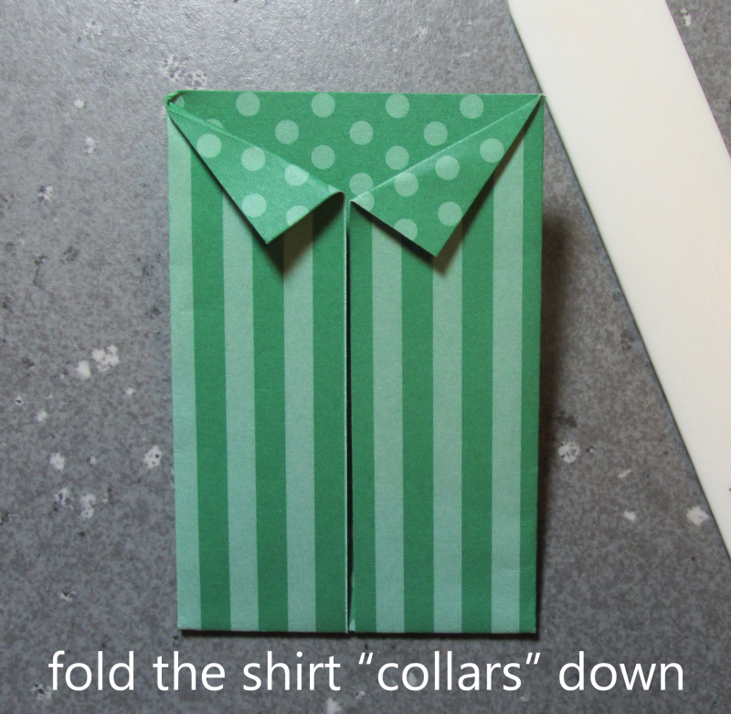 Origami shirt fold tutorial hawaiian shirts cardmaking Stampin Up