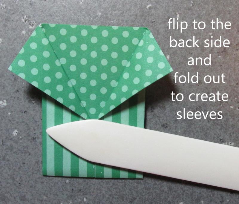 Origami shirt fold tutorial hawaiian shirts cardmaking paper DIY Stampin Up