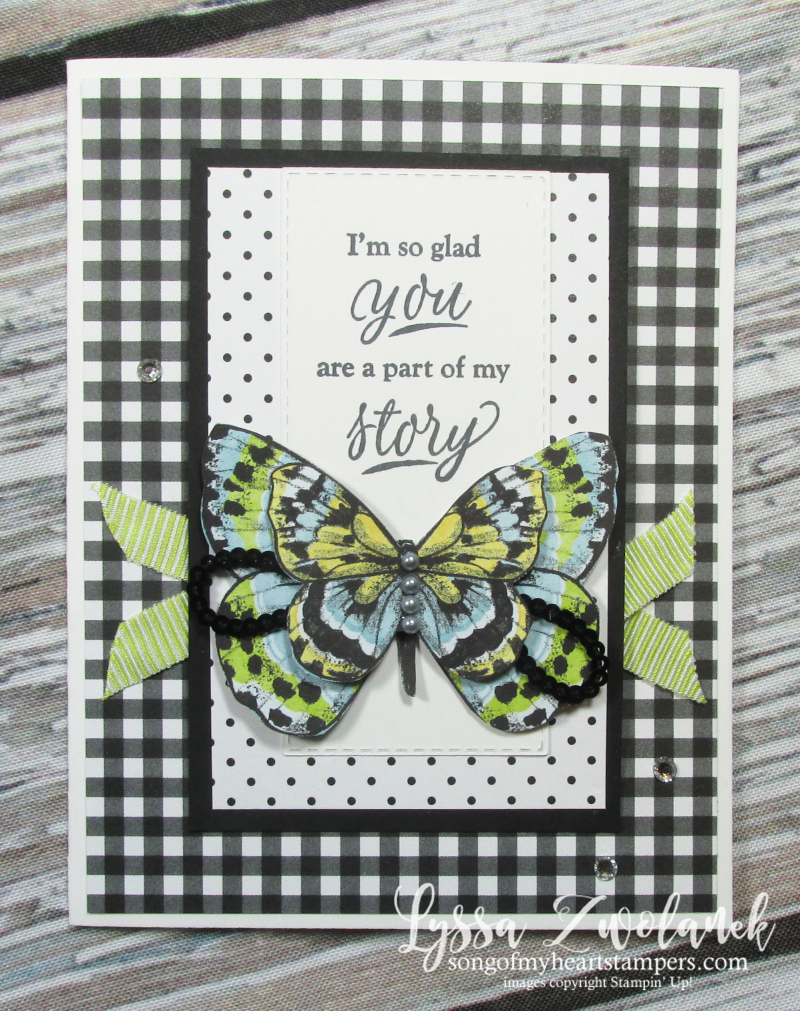 Butterfly DSP gala paper 12x12 scrapbooking SAB free Stampin up butterflies layouts saleabration Lyssa