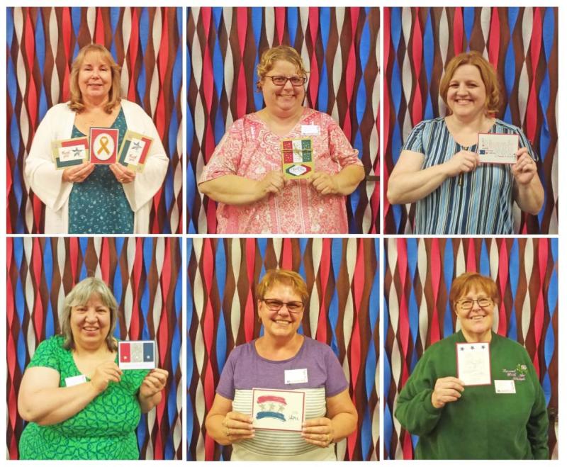 Volunteers honor flight cards stampin up designers